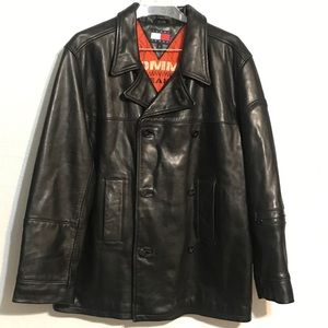 Tommy Jeans Men's Leather Pea coat M